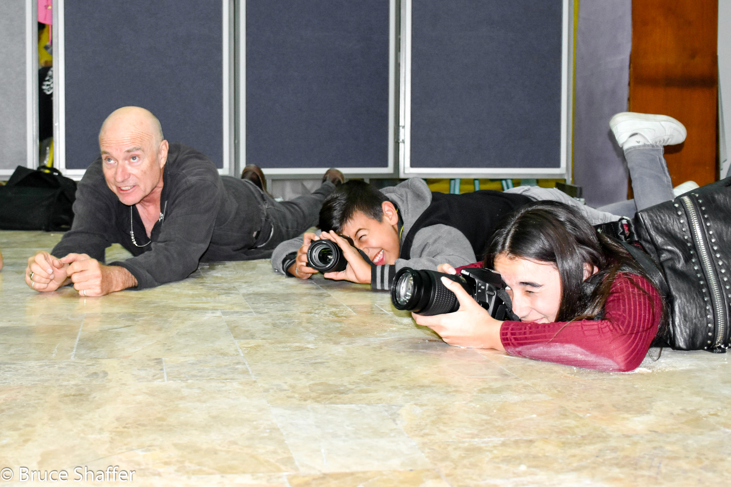 Bruce Shaffer with Photography Students