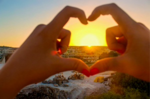 Palestinian woman sending love to her village