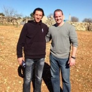 Ali Abu Awwad and Pastor John Moyle