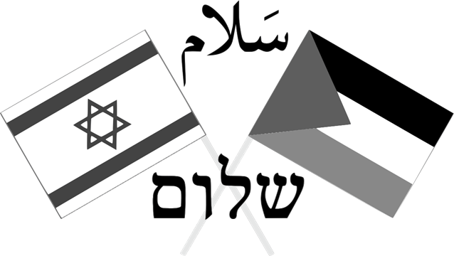 Israeli and Palestinian Flags-Peace, שלום, سلام